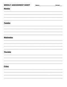 assignment log template