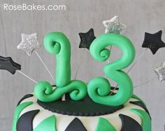 Tutorial on how to make fondant #'s
