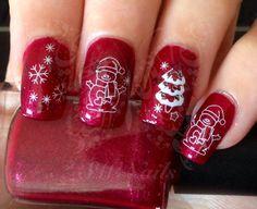 Christmas Xmas Nail Art Snowman Christmas Tree Snowflakes Nail water Decals transfers Wraps