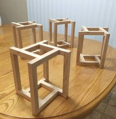 27 exclusive modern nesting end tables design ideas 19 Woodworking For Kids, Woodworking Toys, Woodworking Projects, Diy Table, Wood Table, Dining Table, Chair Design Wooden, Wooden Plane, Wood Toys Plans