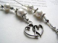 Pearl Bookmark BRIDAL PARTY GIFT or Wedding Favor  by EleganceFarm, $22.00