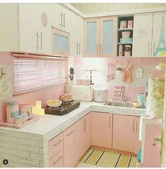 29 Trendy Decor Ideas For The Home Shabby Chic Cocina Shabby Chic, Shabby Chic Kitchen, Shabby Chic Homes, Shabby Chic Decor, Vintage Kitchen, Küchen Design, Design Case, Home Design, Pink Kitchen Decor