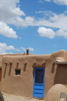 Adobe homes are common in New Mexico...