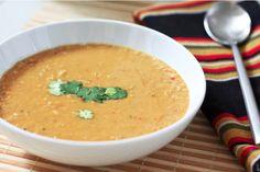 Spiced coconut lentil soup