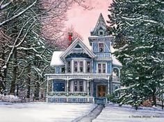 """""""Wintry Day in Springville, NY"""" - by Thelma Winter"""