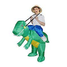 TOLOCO Inflatable Kids Dinosaur TREX Fancy Dress Halloween Costume