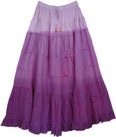 Tapestry Purple Frills Long Skirt