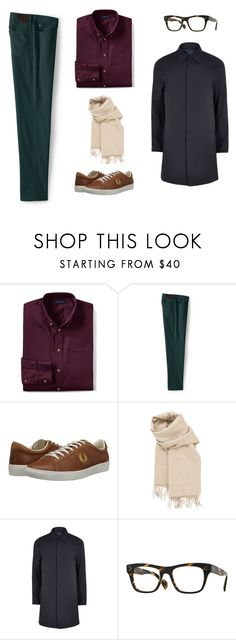"""cool hippie look"" by yuri-writer on Polyvore featuring Lands' End, Fred Perry, Hermès, River Island, Oliver Peoples, men's fashion and menswear"
