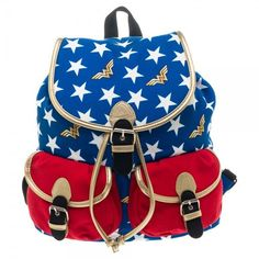 Wonder Woman:  Wonder Woman Themed Knapsack - First Person Clothing  - 2