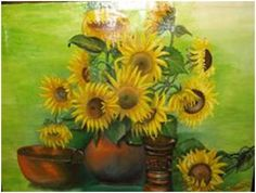 Sunflowers 1 - oil painting canvas