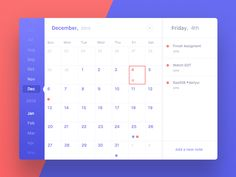 Calendar - Day 038 by Ennio Dybeli Calendar Layout, Calendar Design, Event Calendar, Calendar App, Web Ui Design, Dashboard Design, Layout Design, Design Design, Interface Design