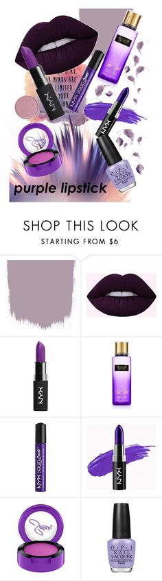 """""""Senza titolo #1498"""" by annmichaela ❤ liked on Polyvore featuring beauty, NYX, Victoria's Secret and OPI"""
