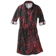 black and garnet red printed shirt dress / look for less for gamecock football