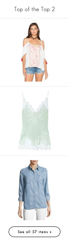 """""""Top of the Top 2"""" by faeryrain ❤ liked on Polyvore featuring tops, blouses, fashion tops, short sleeve tops, embroidered top, white short sleeve top, cold shoulder tops, open shoulder top, intimates and camis"""