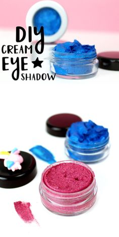 Love makeup? Check out these DIY cream eyeshadows! They're super pigmented, contain ecofriendly glitter & are perfect for rocking your look this Halloween!