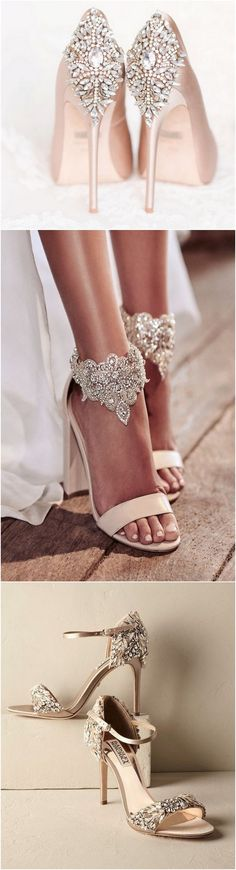 Elegant wedding shoes #bridalfashion #weddingshoes #bridalshoes