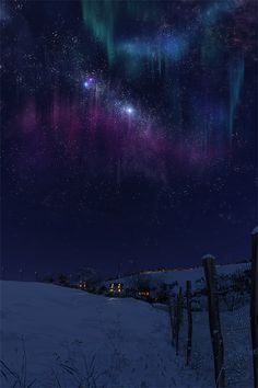Winter Aurora Borealis & Milky Way ~ 4 Season World Beautiful Sky, Beautiful World, Beautiful Places, Beautiful Lights, To Infinity And Beyond, Nocturne, Milky Way, Amazing Nature, Belle Photo
