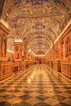 Vatican Library- One of the coolest places I've ever been :)