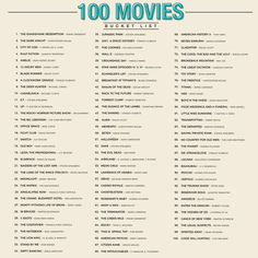 netflix movies 100 Movies Scratch Bucket List Poster This poster compiles 100 of the best films ever made from around the world. Movies To Watch Comedy, Movie To Watch List, Good Movies To Watch, Romance Movies, Movies To Watch Teenagers, Things To Watch, Romantic Comedy Movies, Most Watched Movies, Action Movies To Watch