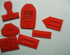 custom rubber stamps from rubberstamps.net, via bananafish studio