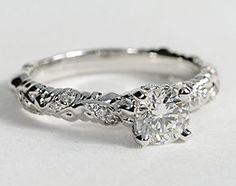 eiros™ Vine Diamond Engagement Ring in 14k White Gold #BlueNile #Engagement