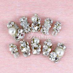 Japanese Nail Art  Beautiful Silver Diamond by tanacollection, $45.00