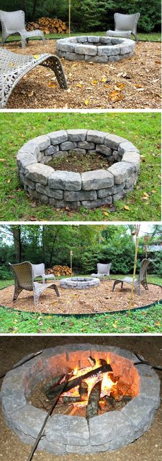 How to make an easy #DIY round fire pit for your #backyard. Great project idea!