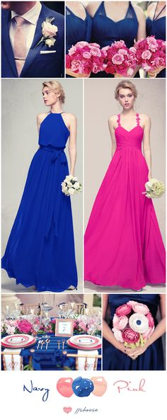 Bridesmaid Dresses Galore, we have your perfect dress in 32 colors! Dark Navy, Fuchsia, Grape...we have all different kinds of lengths and styles #bridesmaid at JJsHouse