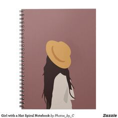 Girl with a Hat Spiral Notebook Custom Notebooks, Lined Page, Girls Shopping, Party Hats, Your Image, Spiral, Gifts For Her, Personal Style, Art Pieces
