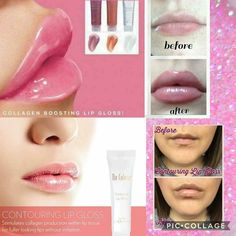 Get fuller lips without the painful injection and expensive price tag. Contour your lips within 28 days. Comes in 3 colors, Crystal Clear, Tender Beige, and Sweet Pink. Contouring Lip Gloss, Fuller Lips, Flavored Lip Gloss, Acne Breakout, 28 Days, Anti Aging Skin Care, Skin Care Tips, Collagen, Lipstick