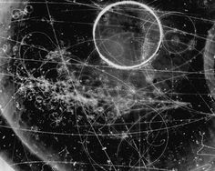 Particle Tracks On Film from the Fermilab Bubble...