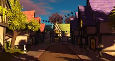 Fantasy Faire 2016 - Bright Haven Woodland, Fairy Tales, Bright, Fantasy, Explore, Mansions, Street, House Styles, Painting