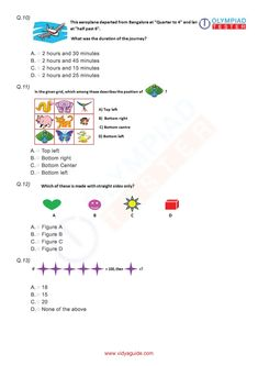 Vidyaguide has partnered with Olympiadtester for Class 3 Maths Olympiad preparation guide, worksheets, sample papers, question bank and online mock tests. 3rd Grade Math Worksheets, Free Printable Math Worksheets, Science Worksheets, Math Olympiad, Olympiad Exam, Maths Paper, Math Exercises, Daily Math, Math Word Problems