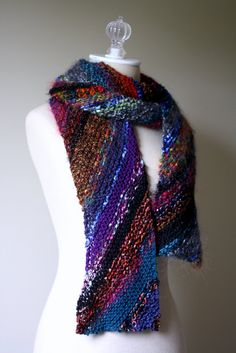 """Knitted """"Americana"""" Scarf  $89.00"""