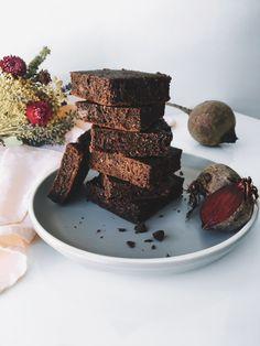 Brownies véganes à la betterave