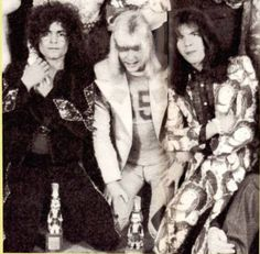 Marc Bolan (T.rex) with Brian Connolly and Mick Tucker (The Sweet)