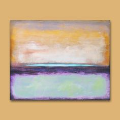 "Abstract Painting Original Art  •  30"" x  24"" Contemporary Canvas Art  ""Seasons Border""  •  Art2D Studio"