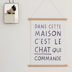 Poster Cat Manifesto via audreyjeanneshop. Click on the image to see more!