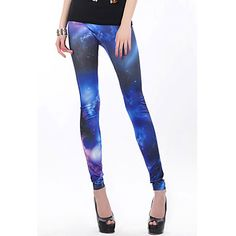 Women's Galaxy pattern Leggings. Cool design isn't it? Click the picture!