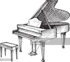 vector-drawing-of-open-grand-piano-and-stool-for-musician-vector-id483583555 (436×393)