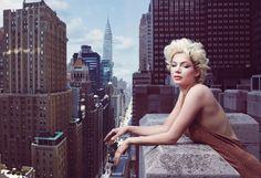 """My Week with Michelle"" Michelle Williams by Annie Leibovitz for Vogue."