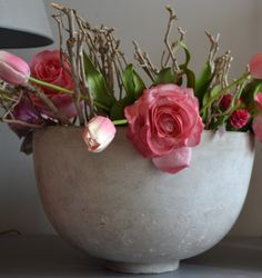 Inspirerend | Mooie grote pot van beton: leuk in de woonkamer, maar ook in de keuken of hal! Cedante heeft regelmatig leuke woonaccessoires in de winkel www. Door inaa