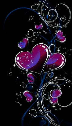 Wallpaper by artist unknown. Heart Iphone Wallpaper, Glitter Wallpaper, Butterfly Wallpaper, Love Wallpaper, Cellphone Wallpaper, Colorful Wallpaper, Galaxy Wallpaper, Wallpaper Backgrounds, 2 Clipart