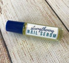 DIY essential oil nail serum for dry, weak, brittle fingernails. Nourishes, strengthens, stimulates healthy nail growth. And it restores moisture to makenails more flexible and resilient.