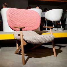 "Moroso ""Klara Chair"" by Patricia Urquiola. Fabric by Innofa Stretch Textiles."