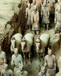 That time when Chinese farmers digging a water well stumbled upon 8000 buried terracotta soldier sculptures dating back to the third century BCE . See the Museum of Terracotta Warriors and Horses  for yourself  tours are bookable on TripAdvisor!