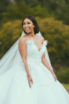 First Look at Minnie Dlamini & Quinton Jones' Fairytale Wedding Long Bridesmaid Dresses, Bridal Dresses, Bridesmaids, Dream Wedding Dresses, Wedding Gowns, Wedding Ceremony, Wedding Day, Wedding Blog, Bridal Party Robes