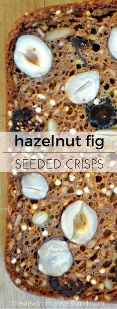 Hazelnut Fig Seeded Crisps ~ super crisp homemade crackers packed with healthy nuts and seeds Healthy Crackers, Homemade Crackers, Healthy Snacks, Healthy Crisps, Healthy Baking, Healthy Eats, Healthy Nuts And Seeds, Brownies, Crack Crackers