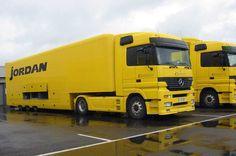 Jordan F1 race transporter