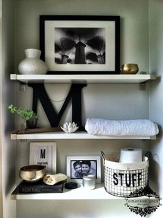 Styling shelves {our new home}